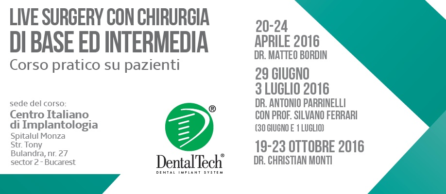 II° applied course on patients: basic and intermediate live surgery