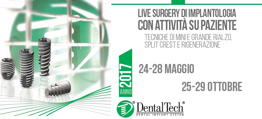 III° applied course on patients: Dental implant Live surgery