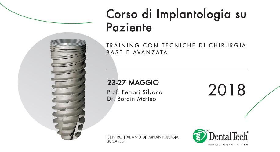 IV° Corso di Implantologia su paziente: Training con tecniche di chirurgia base e avanzata