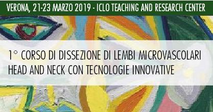 1° Corso di dissezione di lembi microvascolari con tecnologie innovative