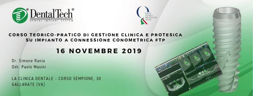 Corso Teorico-Pratico di gestione clinica e protesica su impianto a Connessione Conometrica