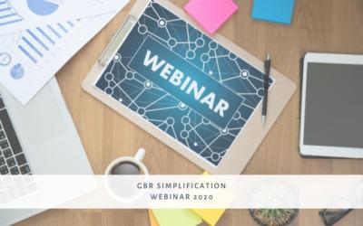 Webinar: GBR Simplification